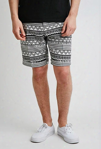 Tribal Pattern Trouser Shorts