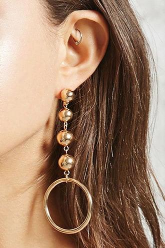 Drop Hoop Earrings