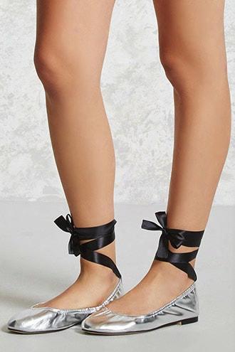 Faux Leather Ballet Flats