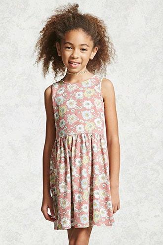 Girls Floral Tank Dress (kids)