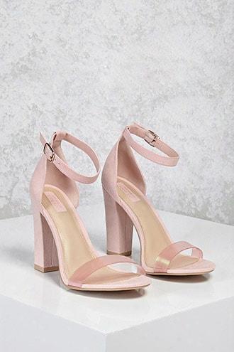 Iridescent Strap Heels (wide)