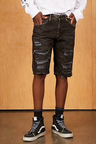Jordan Craig Distressed Shorts