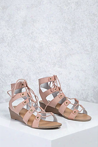 Leather Caged Wedges