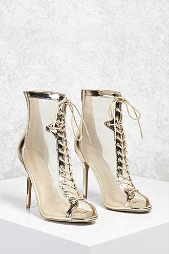 Metallic Mesh Stiletto Heels