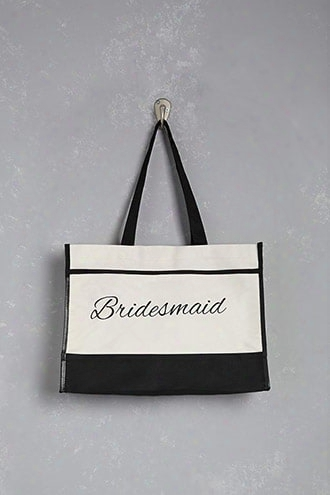 Pretty Robes Bridesmaid Graphic Tote