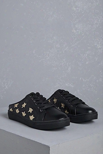 Star Cutout Low-top Slip Ons