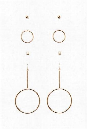 Stud & Drop Earring Set