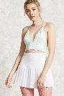 Drop-Pleat Mini Skirt