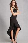 Ruffled High-Low Skirt