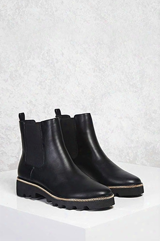 Curb Chain Chelsea Boots