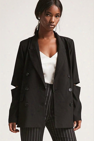 Double Breasted Cutout Blazer