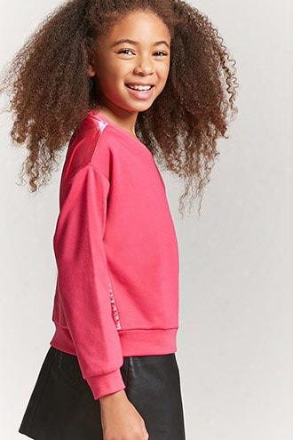 Girls Satin-back Sweatshirt (kids)