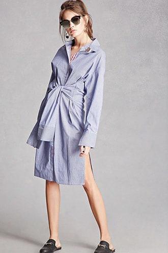 Korirl Tie-front Shirt Dress
