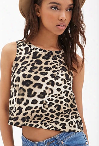 Leopard Print Cutout Top
