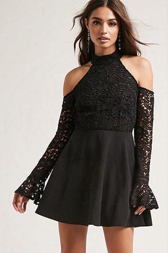 Open-shoulder Crochet Dress
