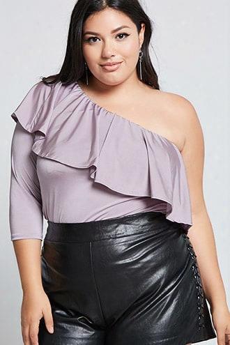 Plus Size One-shoulder Top