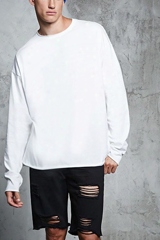 Raw-cut Long-sleeve Tee