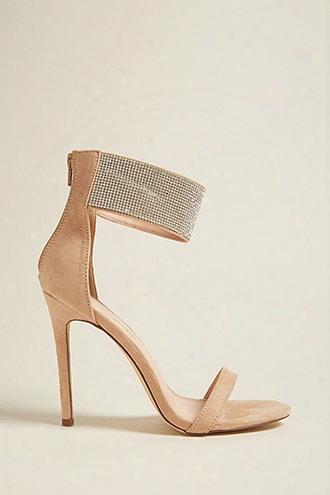 Rhinestone Ankle-strap Heels