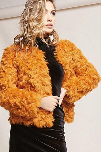 Shaci Boxy Faux Fur Jacket
