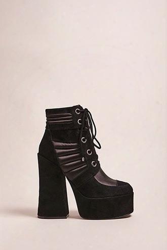 Shellys London Lace-up Suede Platform Boots