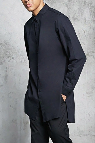 Slim-fit Longline Shirt