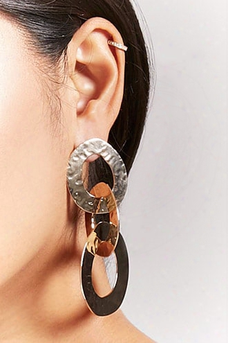 Textured Link Drop Earrings
