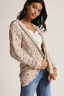 Woven Heart Open-Front Cardigan