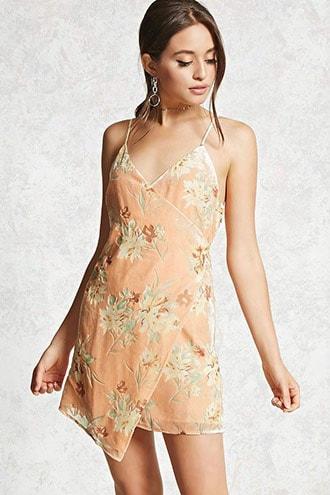 Contemporary Velvet Floral Dress