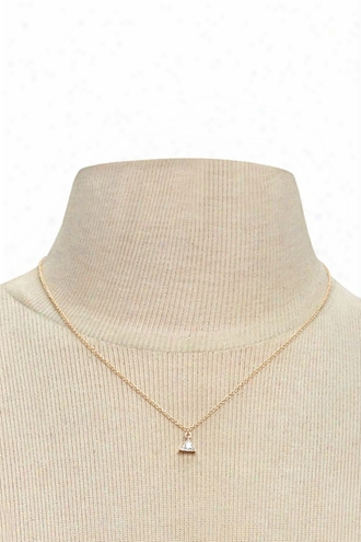 Cubic Zirconia Triangle Necklace