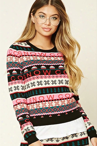 Fair Isle Snow Sweater