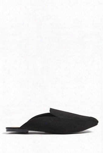 Faux Suede Loafer Mules
