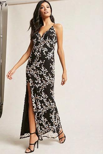 Floral Sequin Maxi Dress