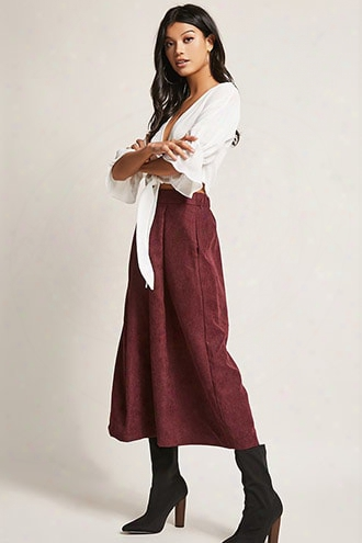 High-rise Pleated Culottes