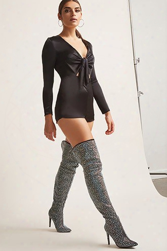 Iridescent Over-the-knee Boots