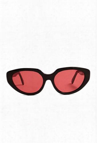 Melt Colored Cat-eye Sunglasses