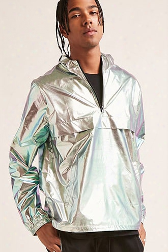 Metallic Hooded Anorak