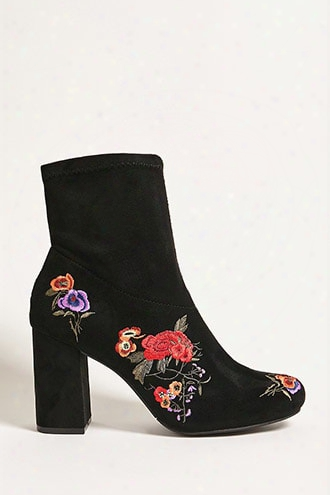Mia Embroidered Ankle Boots