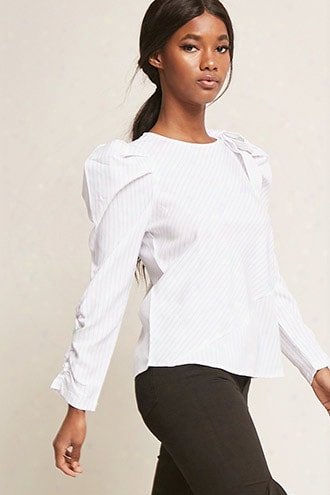 Pinstripe Bow Top