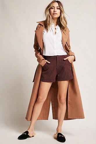 Pinstripe Cuffed Shorts