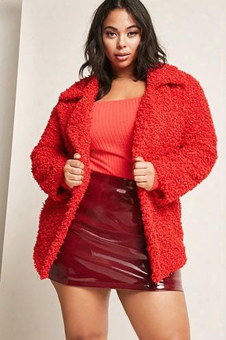 Plus Size Shaci Boucle Join Jacket