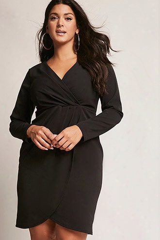 Plus Size Surplice Dress
