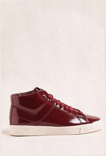 Pony Topstar Patent High-top Sneakers