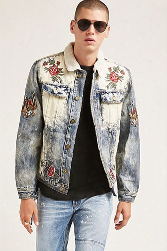 Reaso N Patched Denim Jacket