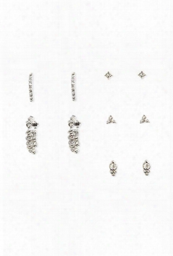 Rhinestone Earring Set