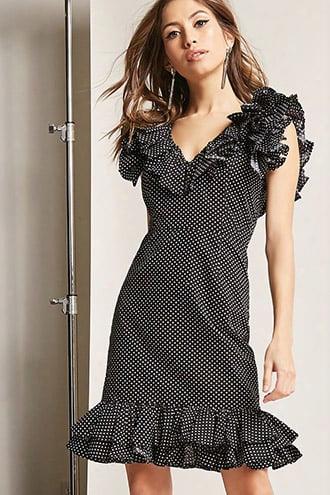Ruffle Polka Dot Dress