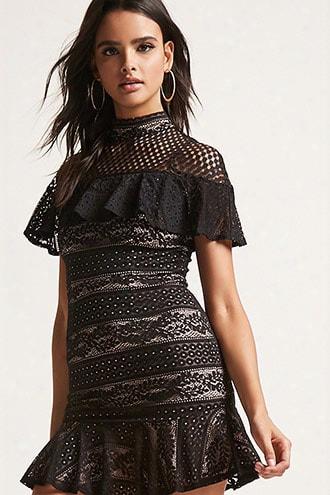 Selfie Leslie Geo Lace Mini Dress