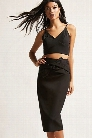 Cropped Cami and Midi Skirt Set