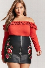 Plus Size Off-the-Shoulder Flounce Sweater