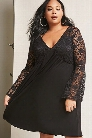 Plus Size Pink Clove Lace Dress