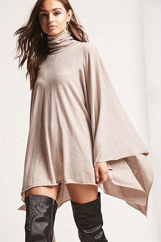 Turtleneck Sweater Poncho